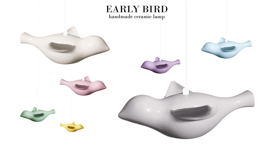 Alma's Room - Early Bird handmade Ceramic bird lamp